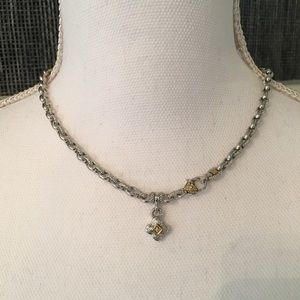 Judith Ripka 18k gold and diamond chain necklace
